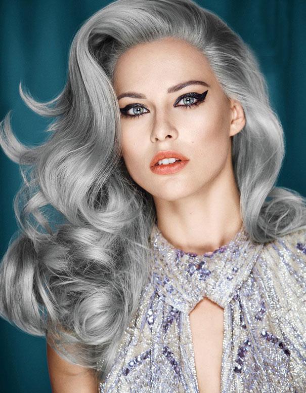 tinte gris para mujer