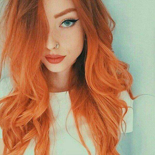 el cabello naranja natural
