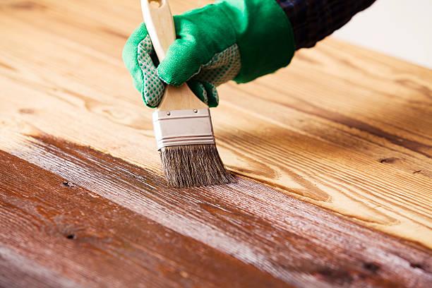 pintando la madera