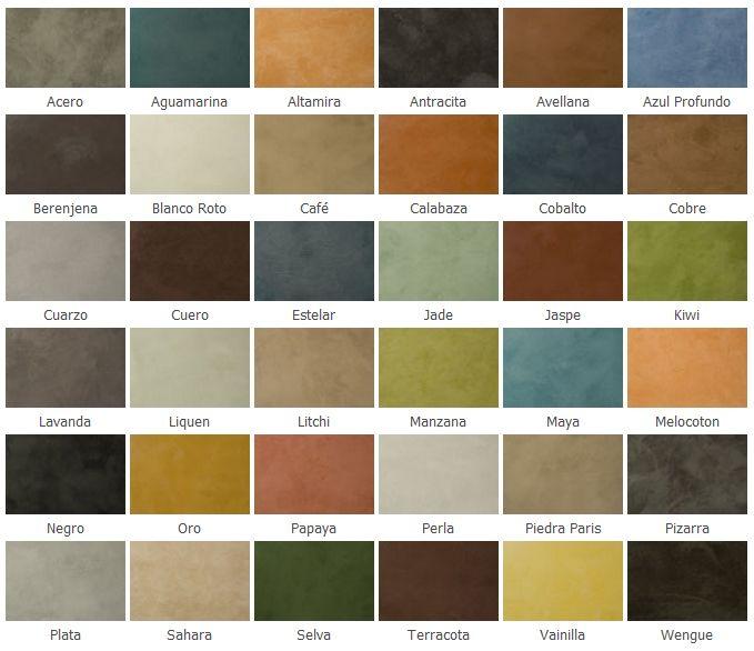 colores de tinte para cemento